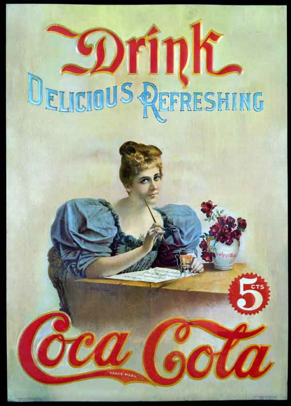 Olden Days Coca Cola Posters Talk Cock Sing Song