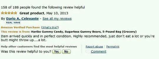Funny Amazon Haribo Gummy Bear Reviews Talk Cock Sing Song